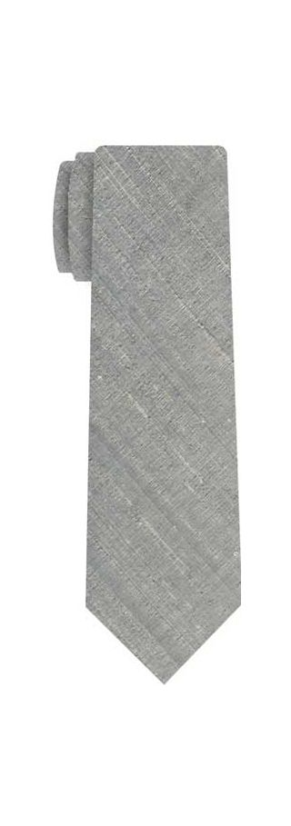 Gray Thai Rough Silk Tie #3